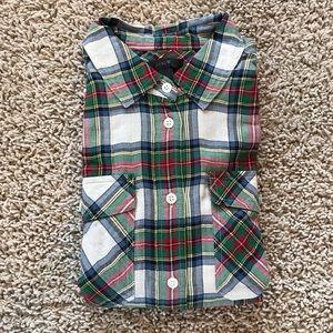 J Crew Oversized Button Up Plaid Shirt NWOT
